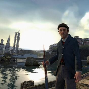 Source Engine в действии: сцена из Half-Life 2 Lost Coast